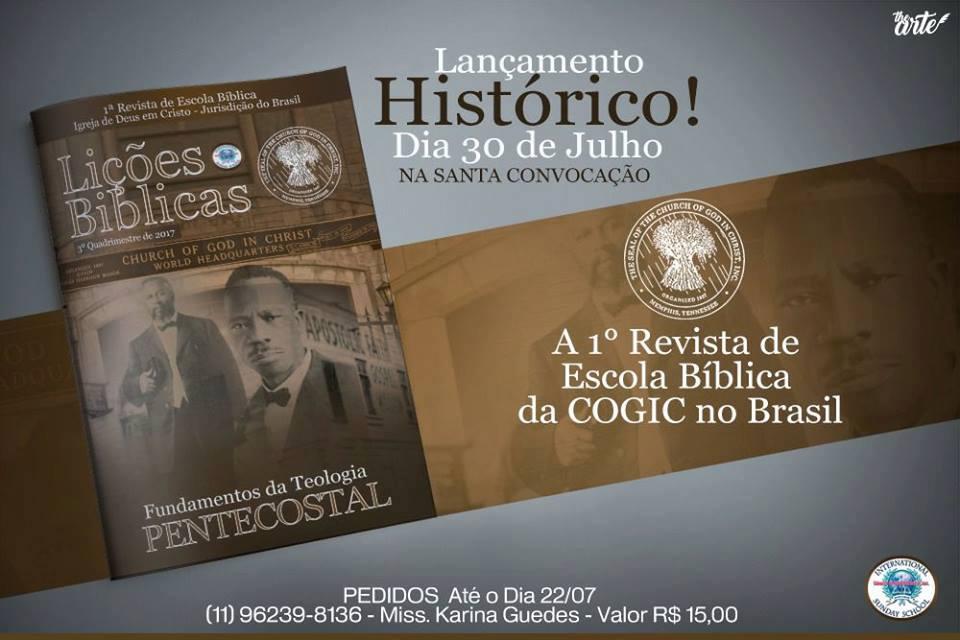 LANÇAMENTO DA PRIMEIRA REVISTA E.B.D.