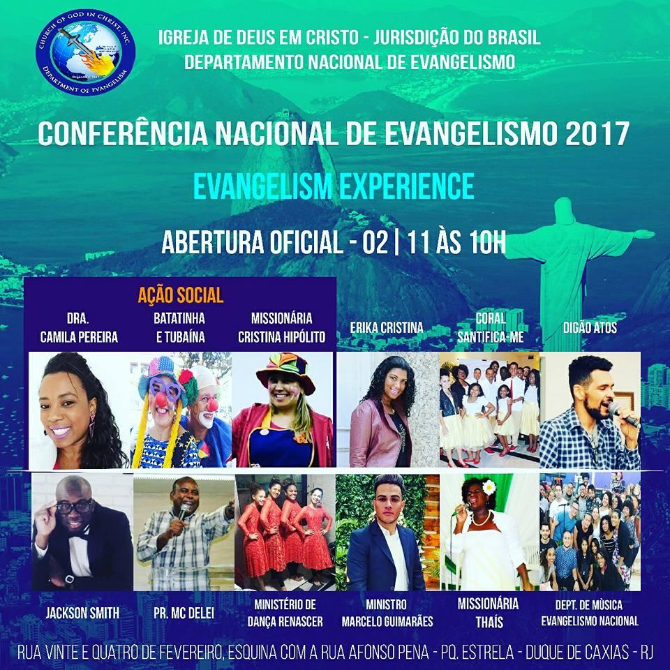 """CONFERENCIA NACIONAL DE EVANGELISMO 2017 """"COGIC BRASIL"""""""