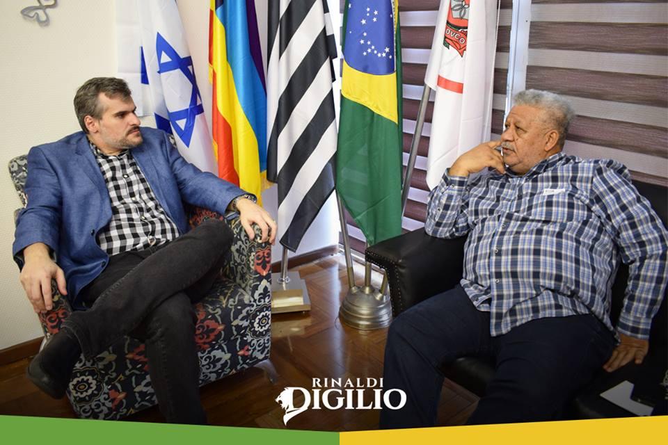 BISPO IVO MARIANO EM VISITA AO VEREADOR RENALDI DIGILIO