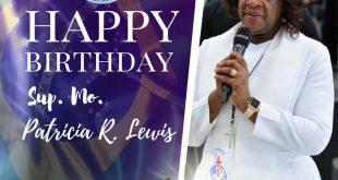 Feliz aniversário Mo. Patrícia R. Lewis.