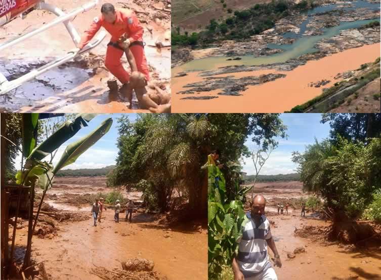 Barragem da Vale se rompe em Minas Gerais e lama invade região de Brumadinho